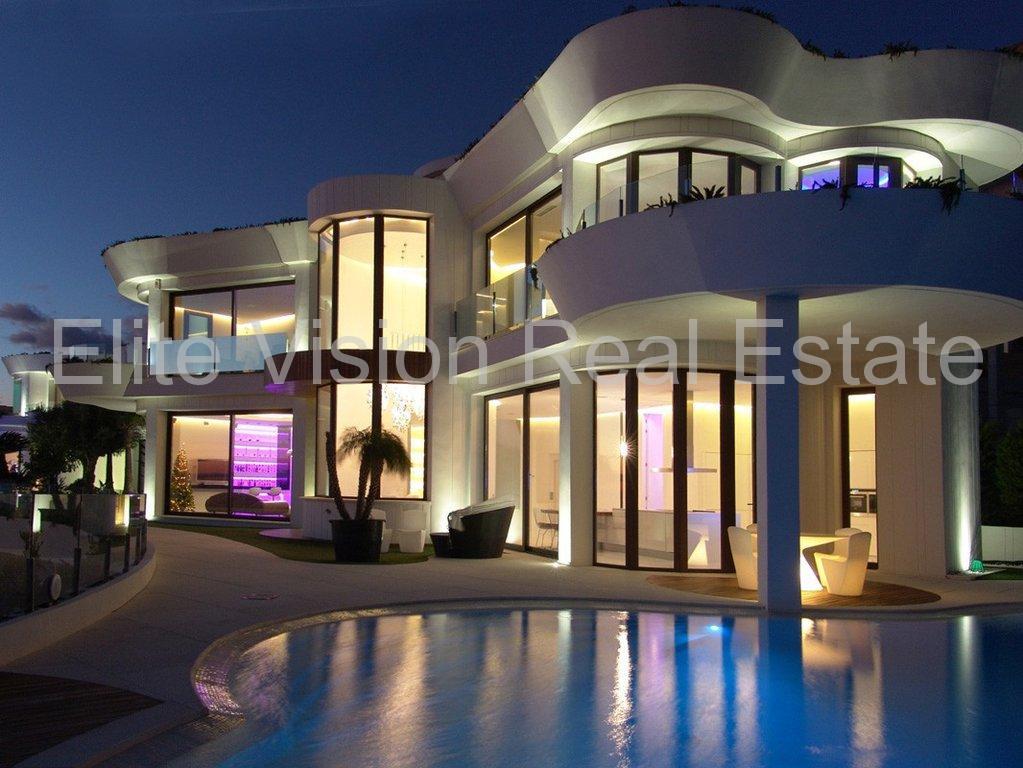 Spania - Benidorm - Rincon de Loix - Espectacular villa de lujo con impresionantes vistas al mar y a un paso de la playa