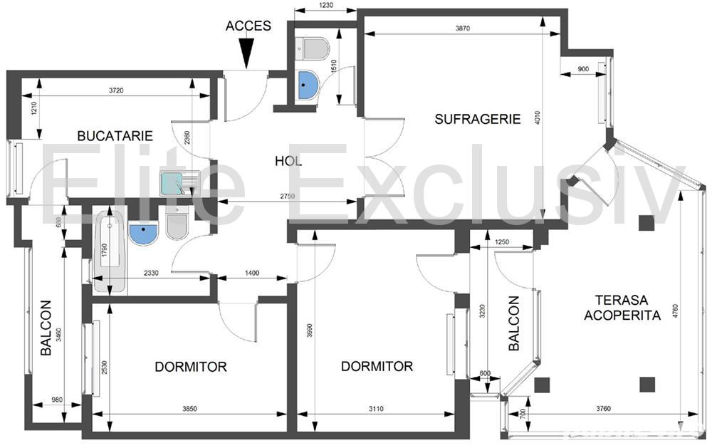 Faleza Nord - Apartament decomandat de  3 camere cu vedere la mare.